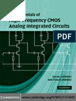 Duran Leblebici, Yusuf Leblebici Fundamentals of High-Frequency CMOS Analog Integrated Circuits(1)
