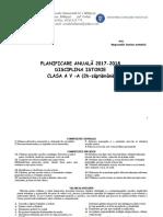 Planificare Calendaristica Si Pe Unitati Clasa a v a Istorie. an Scolar 2017 2018