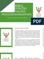 Aula 3 Normatizaçoes Relativas Aos Processos Avaliativos