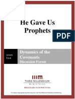 He Gave Us Prophets - Lesson 4 - Forum Transcript