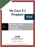He Gave Us Prophets - Lesson 4 - Forum Transcript