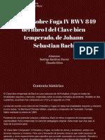 Estructura formal Fuga n°4- Bach