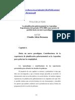 Planificación gubernamental en Argentina de Claudia Bernazza Cap 6