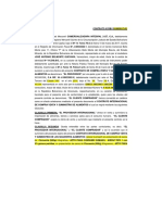 Borrador y Modelo General de Contrato Comercializadora Import Bs