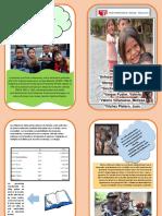 Diptico de los niños que viven en las calles de Perú.