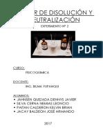 Informe Experimento Nº 2 Calor de Disolucion y Neutralizacion