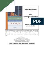 Jostein Gaarder - Das Orangenm 228 Dchen