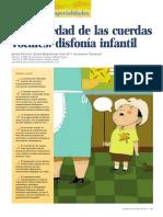 Enfermedad de Las Cuerdas Vocales ,Disfonia Infantil