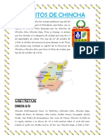 Distritos de Chincha Costumbres