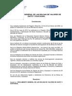 Reglamento General de Las Bolsas de Valores de Quito y Guayaquil