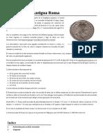 Moneda en La Antigua Roma