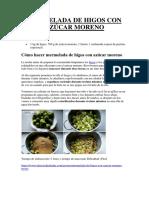 Mermelada de Higos Con Azúcar Moreno