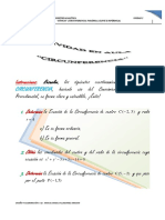 Actividad en Aula Unidad 2 Circunferencia (Geometría Analítica) 2018-1