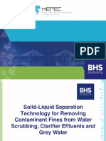 Solid-Liquid Separation Technology for Removing Contaminant Fines from Water Scrubbing, Clarifier Effluents and Grey Water