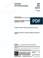 Aisladores Pasantes Para Tensiones Alternas Superiores a 1000v-60137