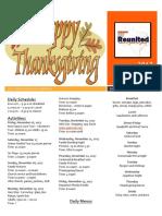 thanksgiving newsletter