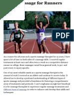 Sports Massage for Runners - MASSAGE Magazine