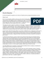 Día de Muertos - Elena Poniatowska Texto de La Jornada