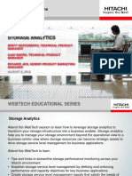Storage Analytics Webtech Educational Series