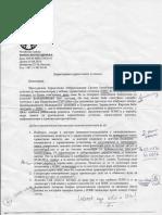 Dopis Ministarstvo