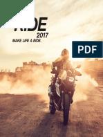 BMW Motorrad Ride Catalog 2017
