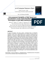 Computer Science in Sport] Intra-seasonal Variability of Ball Speed and Coordination of Two Team-Handball Throwing Techniques in Elite Male Adolescent Players.