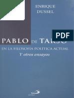 DUSSEL, E., Pablo de Tarso, San Pablo, Mexico, 2012