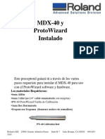Manual Instalacion Drivers Roland MDX-40 Español