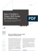 Checklist to Purpose-built Storage for Virtual Servers