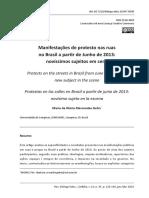 Manifestações de protesto nas ruas no Brasil a partir de Junho de 2013-  novíssimos sujeitos 2d2e65ed84f3b