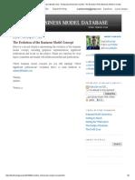 The Business Model Database (Tbmdb