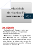 Methodologie Du Commentaire Darret