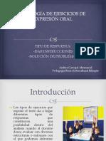 Tipología de Ejercicios de Expresión Oral