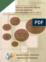 PDRB Kabupaten Nunukan Menurut Lapangan Usaha 2010 2014