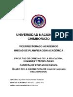 SÍLABO COMPORTAMIENTO ORGANIZACIONAL2