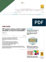 STF Mantém Aval Para Aula de Religião Vinculada a Crença Em Escola Pública - 27-09-2017 - Educação - Folha de S