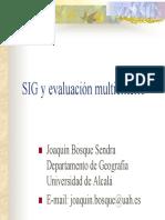 SIG y Evaluacion Multicriterio