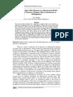 Integrating Negative Affect Measures in a Measurement Model