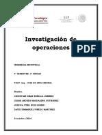 Problemario Investigacion de Operaciones