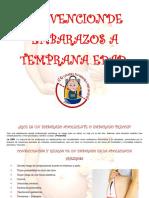 Prevencion de Embarazos a Temprana Edad