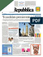 La Repubblica 14 Ottobre 2017