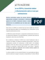 Diferencias en ESFA