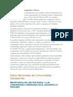 COMUNIDADES CAMPESINAS Y NATIVAS PERÚ