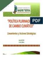 [PPT] Política Nacional de Cambio Climático