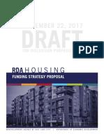 Draft — Salt Lake City RDA affordable housing fund strategy