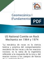 Sesion 1 y 2 Geomecanica I Fundamentos