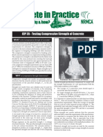CIP35 - Testing Compressive Strength of Concrete