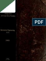 Design of a Jib Crane for a Foundry 1902