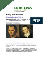 Ética y Parsimonia_1