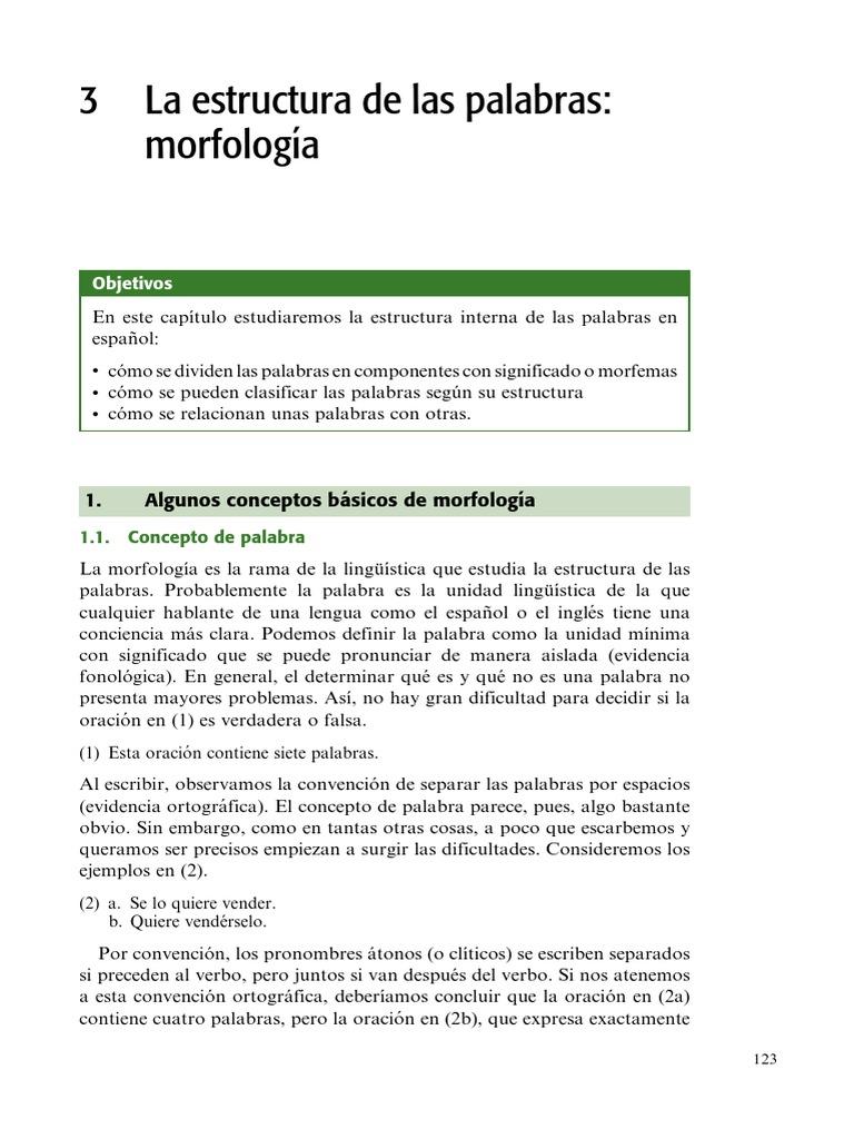 Hualde Morfologia